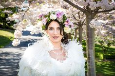 Stunning Spring blossom inspired styled shoot in Wanaka featuring gorgeous Post Wedding, Elope Wedding, Cherry Blossom Wedding, Creative Wedding Ideas, Garland Wedding, Spring Blossom, Bridal Flowers, Wedding Photoshoot, Wedding Inspiration