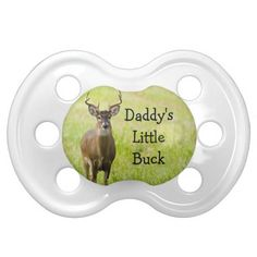 Personalized Babies Boy Hunting Daddys Little Buck Baby Pacifier
