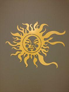 Summer Sun Metal Wall and Garden Art 36x24 by alkemymetal on Etsy