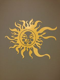 "Summer Sun Metal Wall and Garden Art 36x24"" in Silver or gold on Etsy, $65.00"
