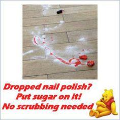 Clean uo nail polish