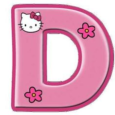 D FOR DEBORAH Hello Kitty Crafts, Hello Kitty Themes, Kitty Images, Hello Kitty Pictures, Hello Kitty Birthday Theme, Happy Birthday Banner Printable, Hello Kitty Imagenes, Hello Kitty Wallpaper, Alphabet And Numbers