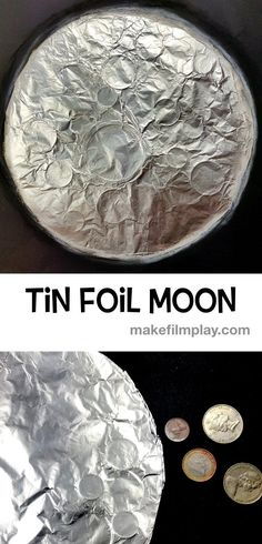 Foil Moon Tin Foil Moon – Make Film Play This is a fantastic craft for anyone who is doing moon or space-themed projects.Tin Foil Moon – Make Film Play This is a fantastic craft for anyone who is doing moon or space-themed projects. Space Activities For Kids, Moon Activities, Space Preschool, Outer Space Crafts For Kids, Space Theme For Toddlers, Library Activities, Preschool Ideas, Moon Projects, Space Projects