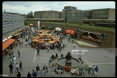 Open-air market in East Berlin.