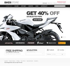 Professional PSD to Magento Template Bikes Store 36860
