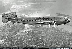 United Air Lines Douglas DC-4E (NC18100) California, 1939. The DC-4E was designed to have twice the capacity of the DC-3 with a range of 2200 miles. Provision was made for pressurisation, but was not fitted. The prototype first flew on 7 June 1938. After testing, it was handed over to United in 1939 for airline trials, but was deemed to be too large and complex for airline demand of the day. The small upper windows were to illuminate sleeping accomodation.