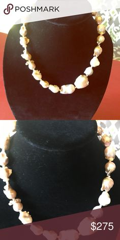Hand made real water pearl necklace Real big water pearl   Unique design Jewelry Necklaces