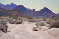 Dry Bed, Mojave Desert by Glenn Dean Oil ~ 20 x 30