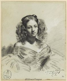 Portrait presumed to be the young Princess Mathilde by Eugene Louis Lami (Louvre).