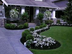 These plants lead traffic straight to the front doorway, and thus they continue on in the front portion of the home too, giving a lovely continuation of landscape style. Now, obviously, there's plenty…MoreMore #LandscapingIdeas