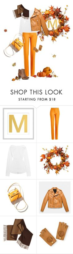 """Fall."" by petitemia ❤ liked on Polyvore featuring Pottery Barn, Victoria, Victoria Beckham, Victoria Beckham, National Tree Company, Coach, Hermès and Tod's"
