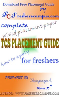 Download Complete TCS career placement guide for freshers