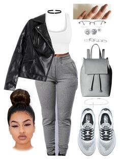 """""""Untitled #2675"""" by mrkr-lawson ❤ liked on Polyvore featuring NIKE, Allurez, French Connection, Kendra Scott, BERRICLE, Amanda Rose Collection and GlassesUSA"""