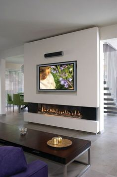 Wohnzimmer Wohnzimmer Home Deco contemporary fireplace design modernfireplaceideas Wohnzimmer Home Fireplace, Living Room With Fireplace, Fireplace Design, Living Room Decor, Fireplace Ideas, Linear Fireplace, Fireplace Outdoor, Living Rooms, Modern Houses