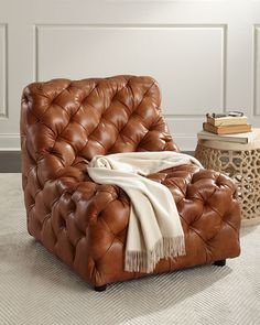 Trevi Leather Chaise Lounge makes me think of a therapist chair ...