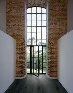Italian Porcelain Tile - 8' Long Plank Series  – Black - Hallway View