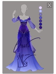 ::Bluebell Outfit:: by VioletKy on DeviantArt Dress Drawing, Drawing Clothes, Fashion Design Drawings, Fashion Sketches, Drawing Fashion, Anime Outfits, Cool Outfits, Inspiration Drawing, Anime Dress