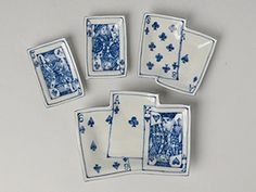 These would be great as little ceramic mahjong  trays also