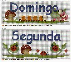 Aline Ponto Cruz e Artesanato: Semaninha de Cogumelos