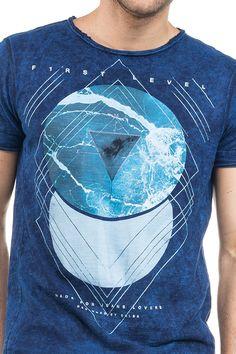 T-shirt manga curta decote redondo com gráfico frontal - Salsa