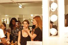 Behind the scenes at the Elizabeth and James Spring 2014 #NYFW Presentation with Avon Global Celebrity Makeup Artist Lauren Andersen and Avon Makeup Maven Patrice Tucker. http://eseagren.avonrepresentative.com