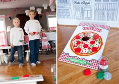 Little Chef Pizza Birthday Party - Anders Ruff Custom Designs, LLC Pizza Kit, Pizza Chef, Pizza Party Birthday, Birthday Parties, Paper Chef Hats, Felt Pizza, Make Your Own Pizza, Cupcake Couture, Cookie Pizza