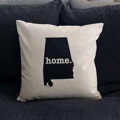The Alabama Home Pillow is the perfect way to show off your state pride in your home, while also helping to raise money for multiple sclerosis research.