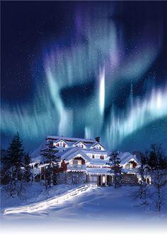 Santa's Resort Kakslauttanen in Saariselkä in Lapland Finland: Santa Claus in Finnish Lapland