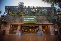 The new go-to place for all things Star Wars, the Star Wars Trading Post, is now open in its new home at Downtown Disney District! Rainforest Cafe, Water Element, Downtown Disney, Trading Post, Mandalorian, Star Wars, Starwars, Star Wars Art