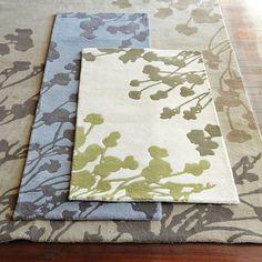 Sakura Rug | west elm  $109.00 – $749.00 SPECIAL $92.00 – $636.00    • 100% wool; cotton backing.  • Hand tufted.  • Soft, plush cut pile     • 3'w x 5'l.  • 5'w x 8'l.  • 8'w x 10'l.  • 9'w x 12'l.