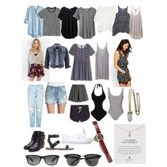 Untitled #12 by chlotus on Polyvore featuring polyvore, fashion, style, H&M, T By Alexander Wang, Free People, BDG, Madewell, J.Crew, Zara, Mlle Mademoiselle, maurices, Brave Soul, Vigoss, George J. Love, Topshop, Victoria's Secret, MINKPINK, Solid & Striped, Rupert Sanderson, Vans, Dogeared, Nixon, Lacey Ryan and Ray-Ban