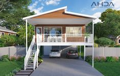 Thinking about building a shed tips? This is the place for more info. Coastal House Plans, Beach House Plans, House Floor Plans, Stilt House Plans, House On Stilts, Wood House Design, Small House Design, Raised House, Modern Roofing
