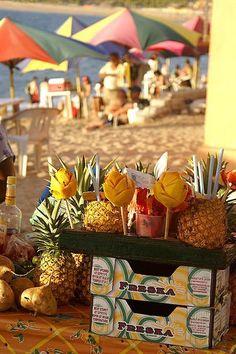 On the Beach. Mexico