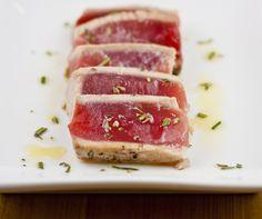 Pan Seared Tuna with Rosemary Oil