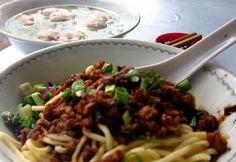 Minced pork noodles in Kuala Lumpur, Malaysia