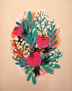 Painted Flowers 1 by Jess Phoenix
