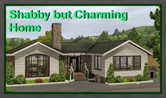 Shabby bungalow  by Sims 3 ComfoLife Design Studio - Sims 3 Downloads CC Caboodle Sims 3 Mods, Sims Cc, Hall And Living Room, Sims 4 House Design, Bathroom Floor Plans, Free Sims, Sims Building, Sims 4 Build, Sims 4 Houses