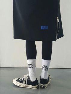 'Your life is a Joke' socks. Black&white