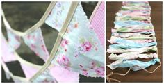 Accessorize this spring and summer with these beautiful handmade bunting and rag tie banners!