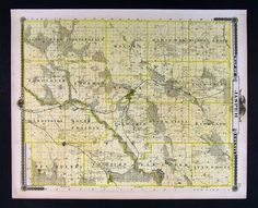 1875 Iowa Map - Jasper County - Newton Prairie City Monroe Kellogg Town Plans