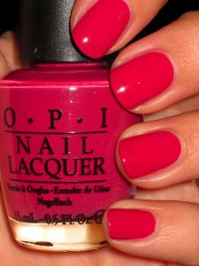 O.P.I. Do You Think I'm Tex-y? (I'm a Texas gal so I like this! Plus it's the perfect valentine season color. In the redish-pinkish family, but not totally girly or childish. :)