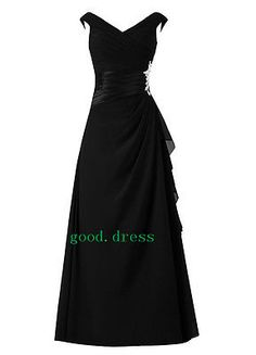 Chiffon Bridesmaid Formal Gown Ball Party Cocktail Evening Prom Dress Plus Size