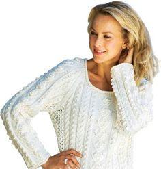Lun og lækker sweater med et flot mønster.