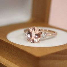 Blush hued morganite sets our hearts aflutter.