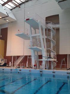 MONTREUIL (93 - Seine-Saint-Denis, France) - Stade nautique Maurice Thorez - Installations de plongeon (Photo prise le 28/02/2015 par Daniel C., Officiel national de plongeon à la Fédération Française de Natation).