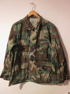 Vintage Camouflage Authentic Military Jacket Medium by TheSellOut, $35.00
