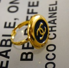 vintage chanel ring. by leonor