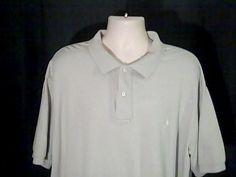 RALPH LAUREN Polo Mens 3XB  Lite Green Shirt 100% Cotton #RALPHLAUREN #PoloRugby