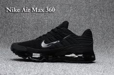 9df03f53b3e90a Nike Air Max 360 KPU All Black Men s Running Shoes  SIM000072