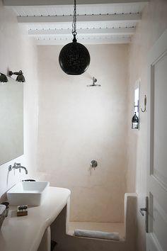 Showers with a rustic charm | San Giorgio Mykonos via Apartment 34